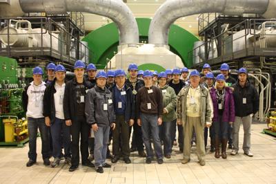 JU Brand im Kernkraftwerk Isar
