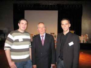 Florian Söllner und Christian Doleschal im Gespräch mit Professor